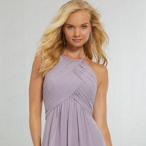 Mori Lee bridesmaid dress size 6, blush color
